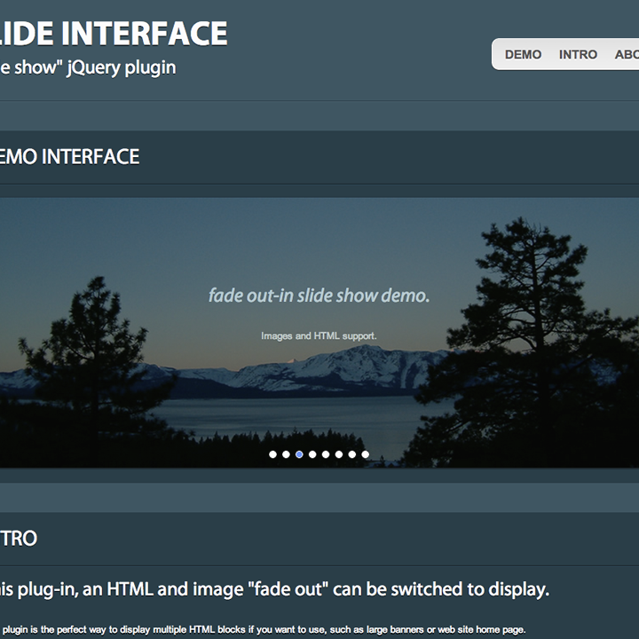 Slide interface(jQuery Plug-in)